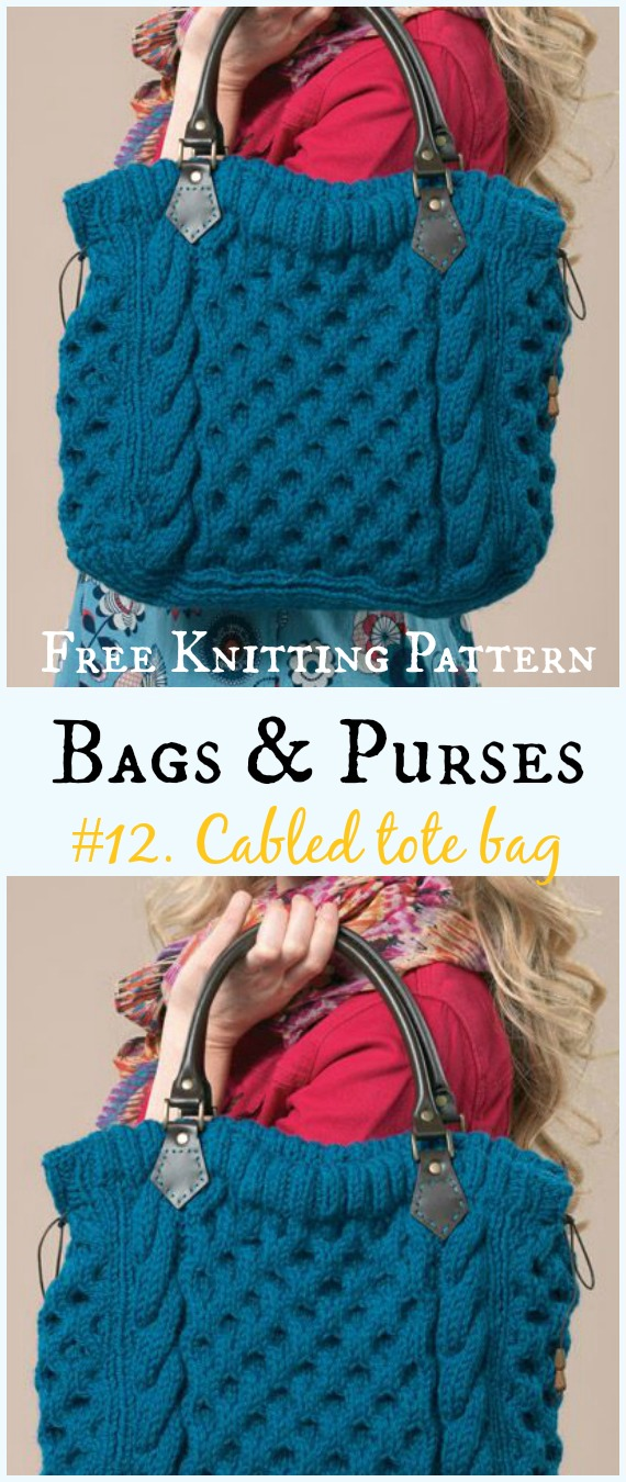 Bags & Purses Free Knitting Patterns