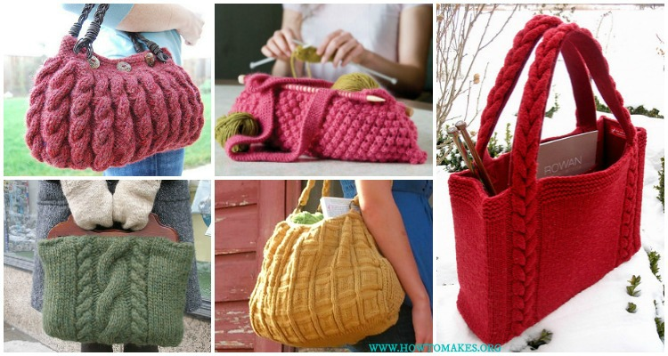 Bags Purses Free Knitting Patterns