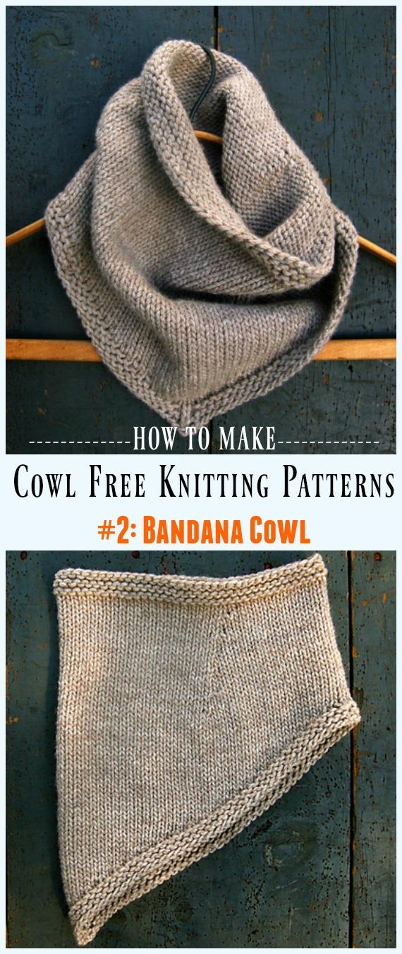 Padrão de tricô sem capuz bandana - sem capuz # padrões de tricô