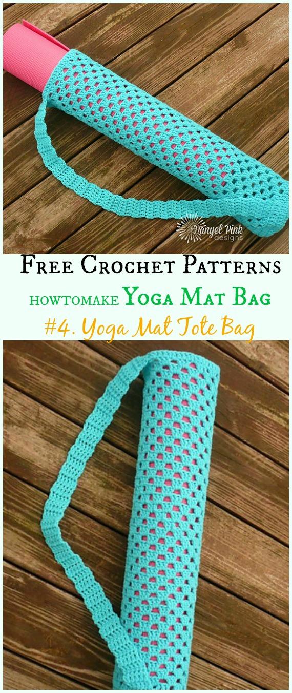 Yoga Mat Tote Bag Free Crochet Pattern