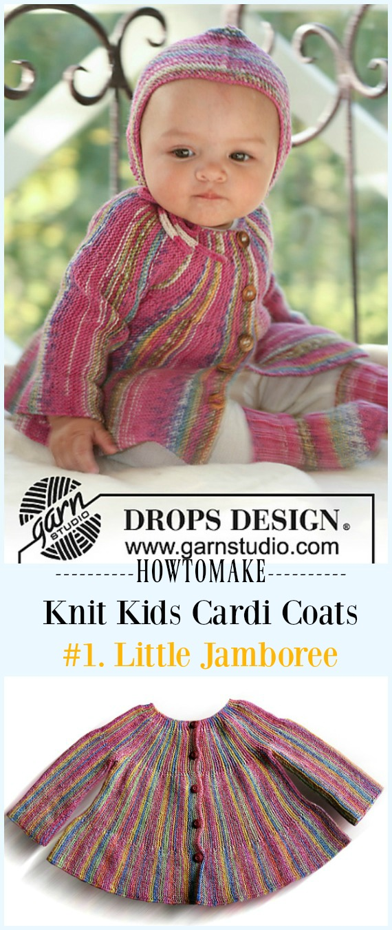 520490b2149b71 Little Jamboree Jacket Cardigan Free Knitting Pattern -  Knit Kids  Cardigan  Sweater Free Patterns
