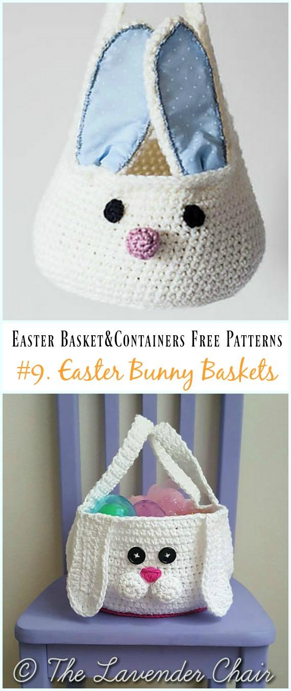 Häkeln Sie Bunny Storage Basket Free Pattern – #Ostern häkeln #Korb & Behälter Kostenlose Anleitungen