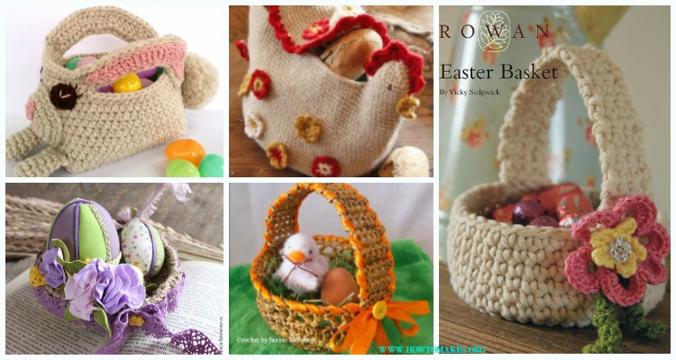Crochet Easter Basket Containers Free Patterns
