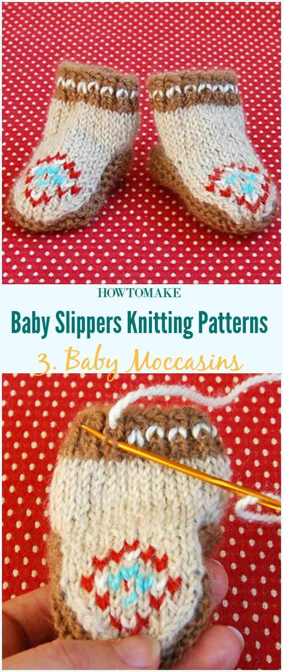 Mocassins para bebês - padrão de tricô grátis - bebê # sapatilhas de sapatilhas grátis # padrões de tricô