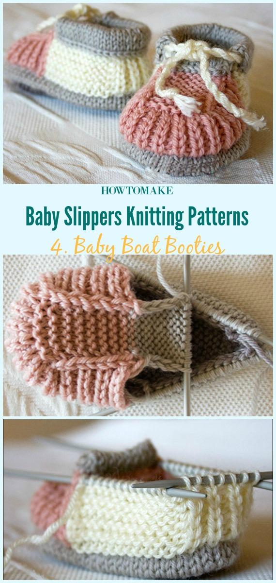 Sapatinhos de barco para bebê Padrão de tricô grátis - Bebê # Sapatilhas de sapatilhas grátis # Padrões de tricô