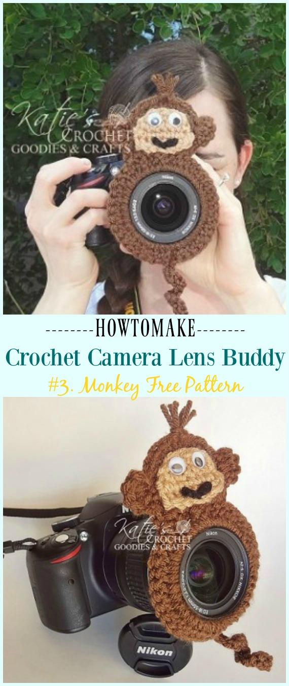 Häkeln Sie Monkey Lens Buddy Free Pattern - #Crochet;  Kamera #Objektiv;  Buddy Cosy kostenlose Muster
