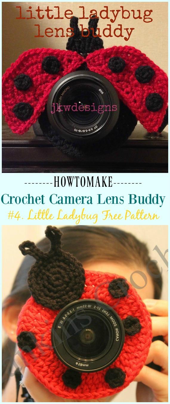 Häkeln Sie Little Ladybug Lens Buddy Free Pattern - #Häkeln;  Kamera #Objektiv;  Buddy Cosy kostenlose Muster