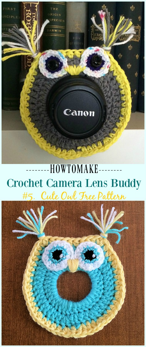 Häkeln Sie Owl Camera Lens Buddy Free Pattern - #Häkeln;  Kamera #Objektiv;  Buddy Cosy kostenlose Muster