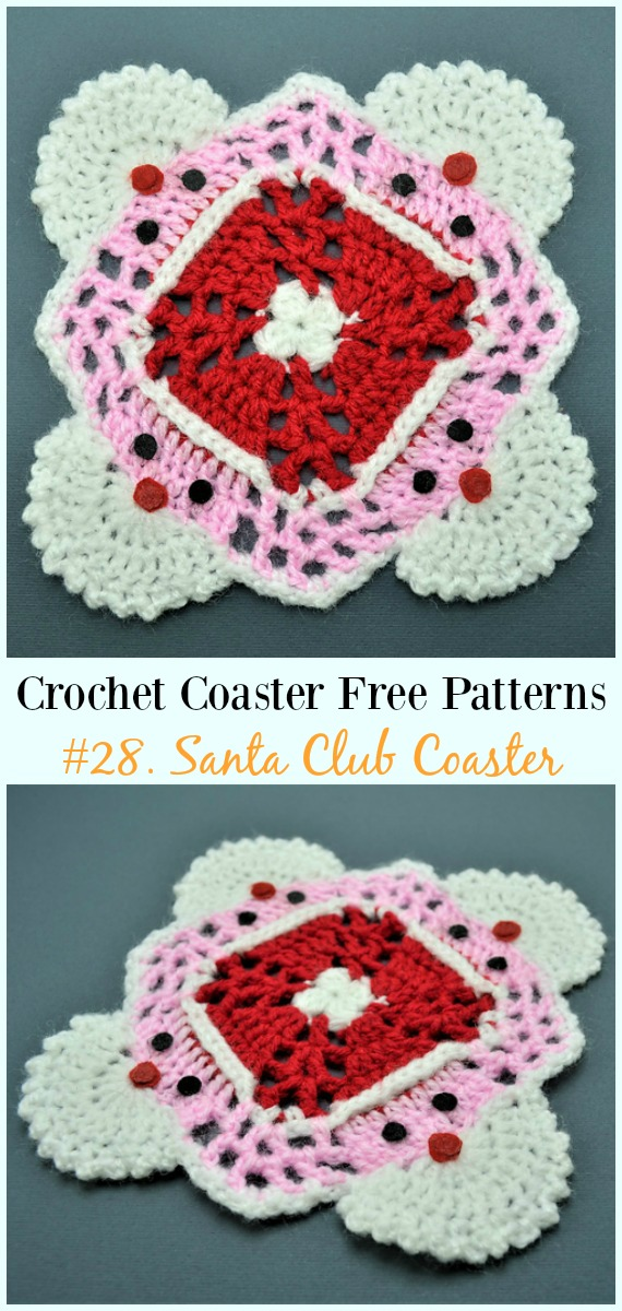 Easy Crochet Coaster Free Patterns Any Beginners Can Try