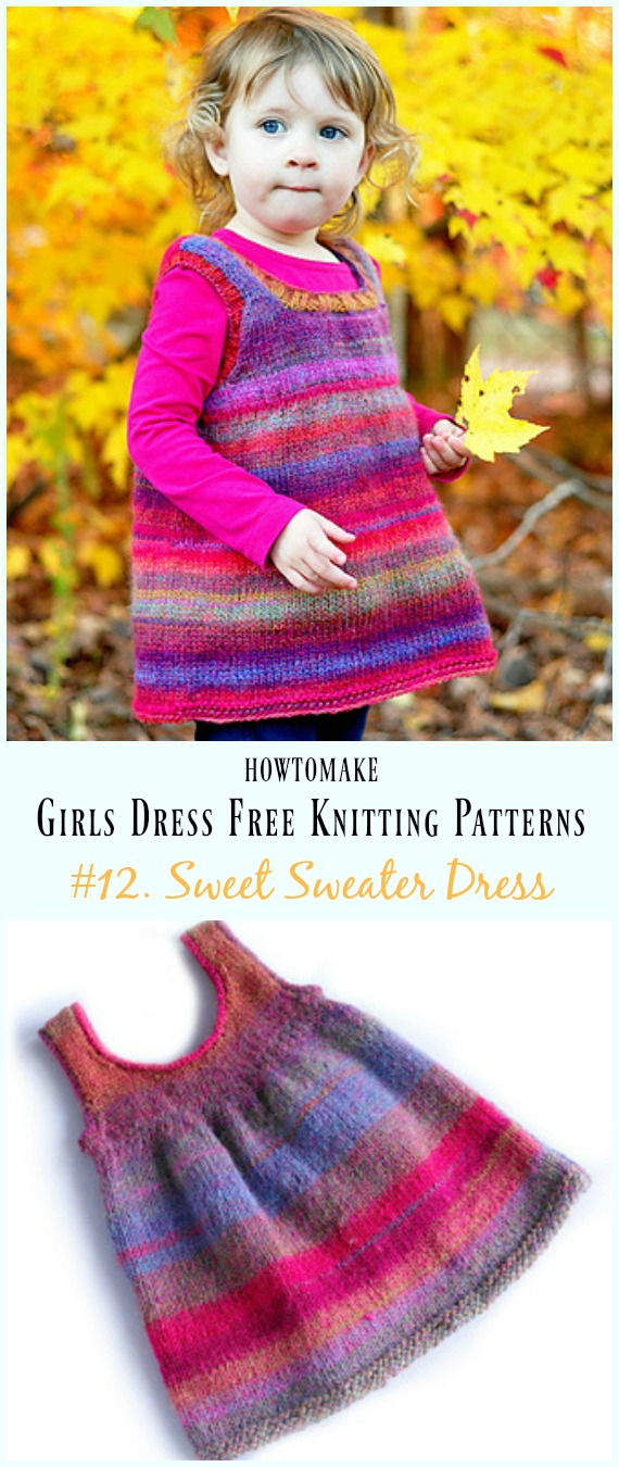 Little Girls Dress Free Knitting Patterns