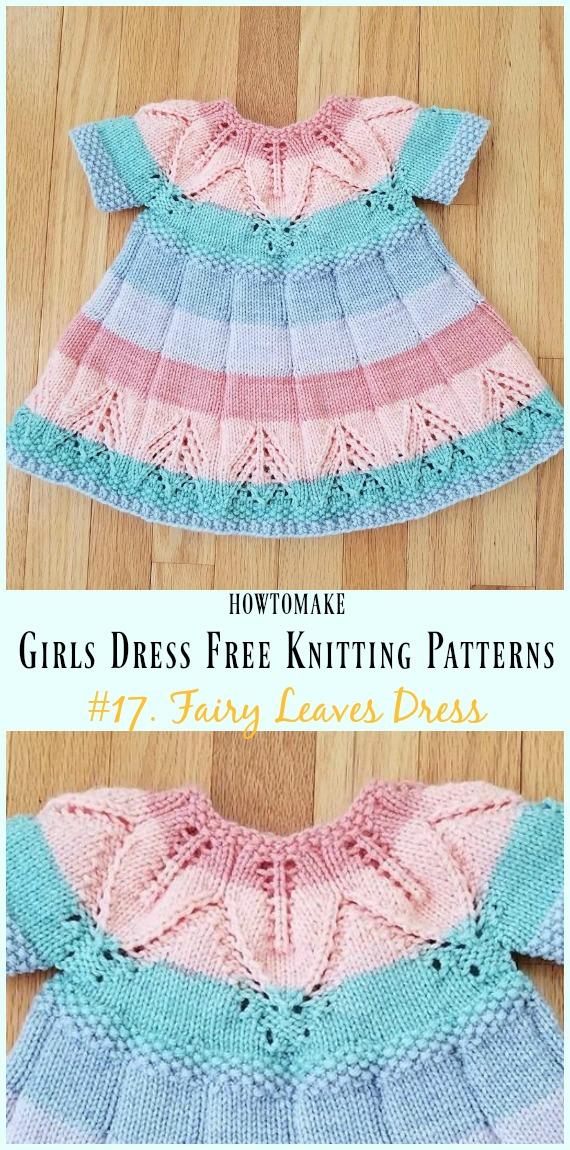 Little Girls Dress Free Knitting Patterns