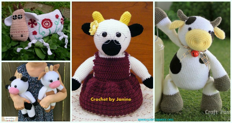 Crochet Amigurumi Cow Toy Plushies Free Crochet Patterns