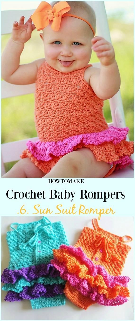 a311fc44b770 Sun Suit Romper Crochet Pattern - Baby  Romper  Crochet Patterns