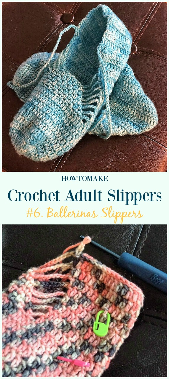 Crochet Adult Slippers Free Patterns