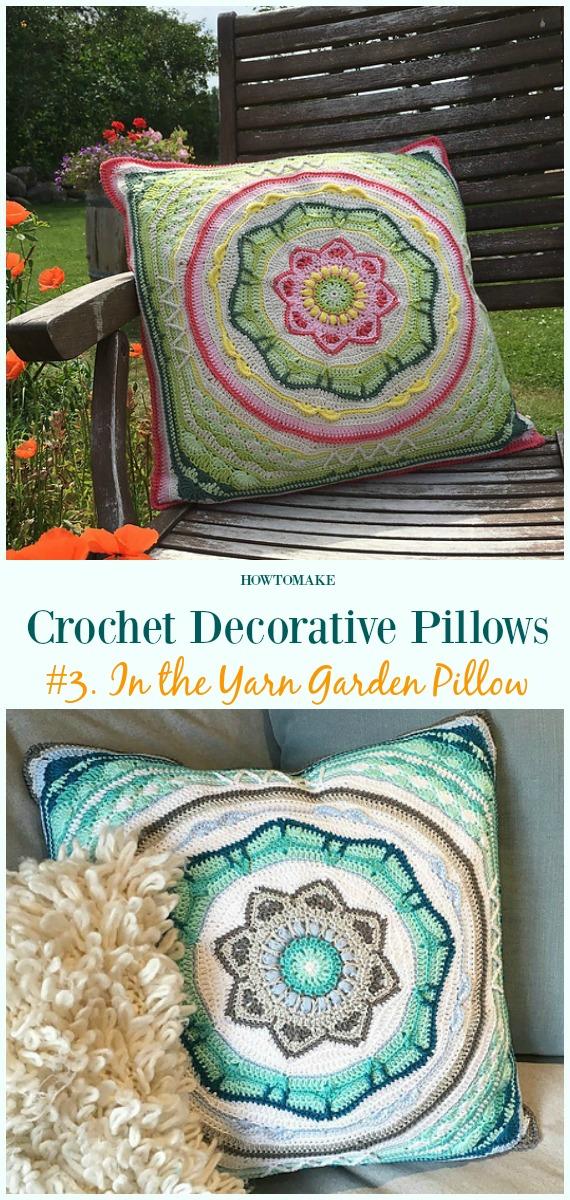 In the Yarn Garden Crochet Free Pattern - #Crochet;  Dekoratives #Kissen;  Kostenlose Muster