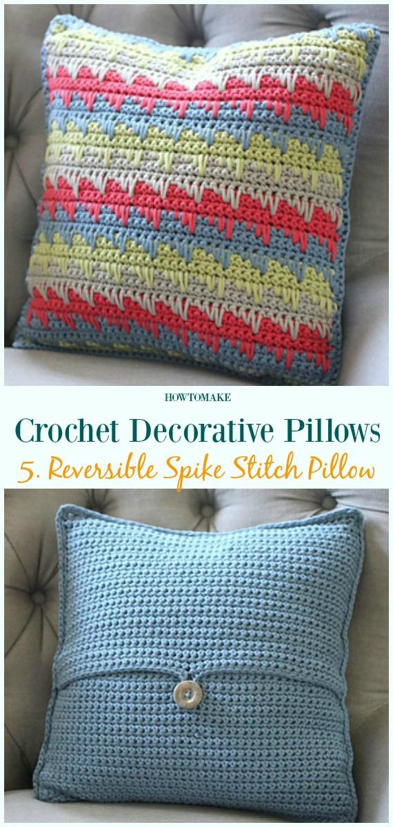 Crochet Decorative Pillow Free Patterns Pillow Case