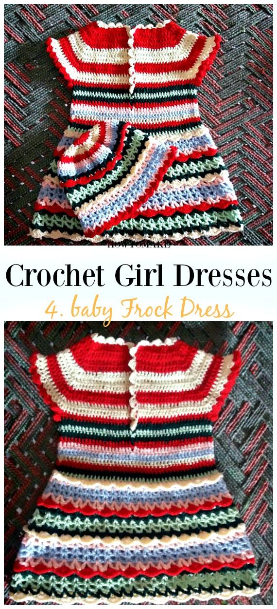 Gehäkeltes Regenbogen-Kleid-freies Muster - Mädchen #Dress Free #Crochet Patterns