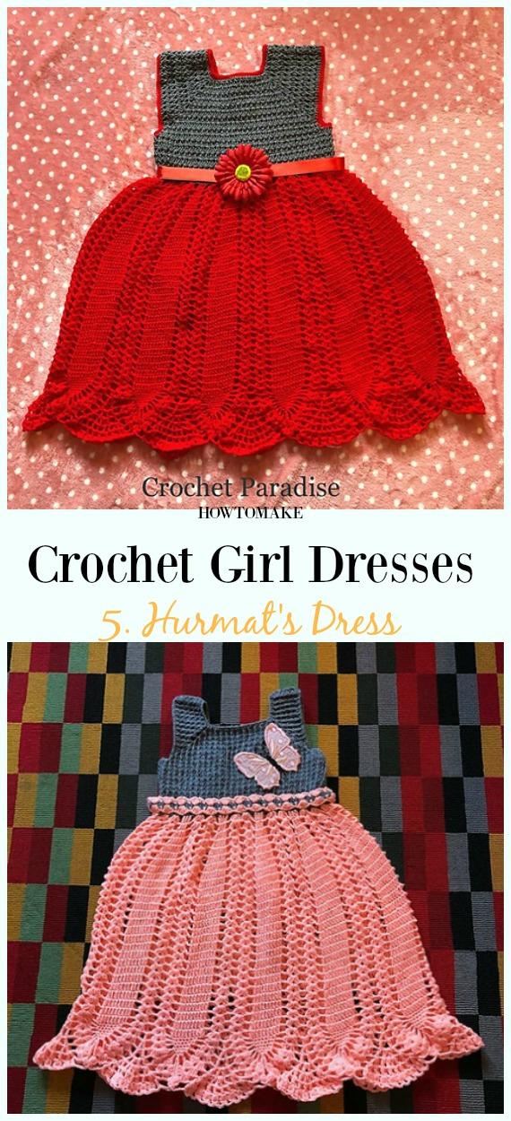 Häkeln Sie Hurmats Kleid Free Pattern - Mädchen #Dress Free #Crochet Patterns