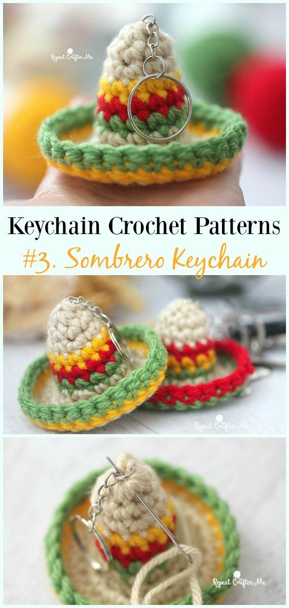 Häkeln Sie Sombrero Keychain Free Pattern - #Keychain #Crochet Patterns