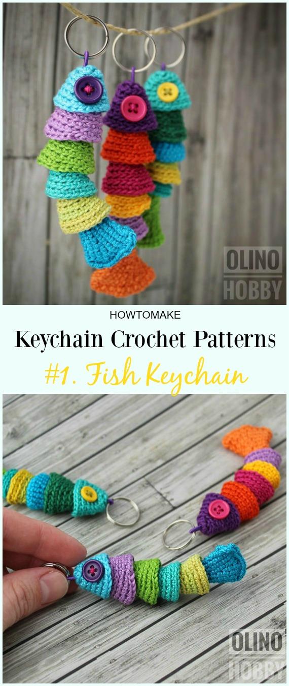 ee977ea3215 Crochet Fish Keychain Pattern -  Keychain  Crochet Patterns
