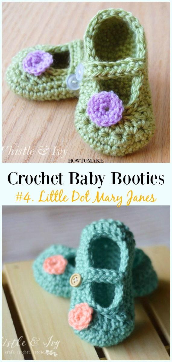 Baby Booties Free Crochet Patterns