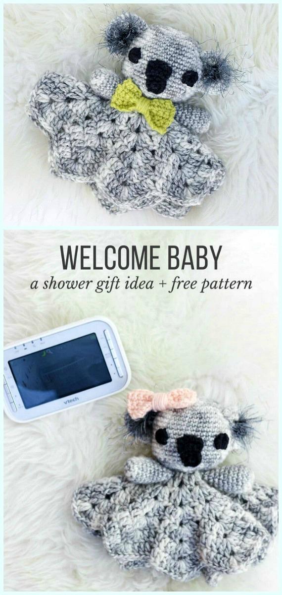 Fofinho Koala Lovey Crochet Padrão Grátis - Baby #Lovey;  #Cobertor;  Consolador de segurança grátis #Crochet;  Padrões
