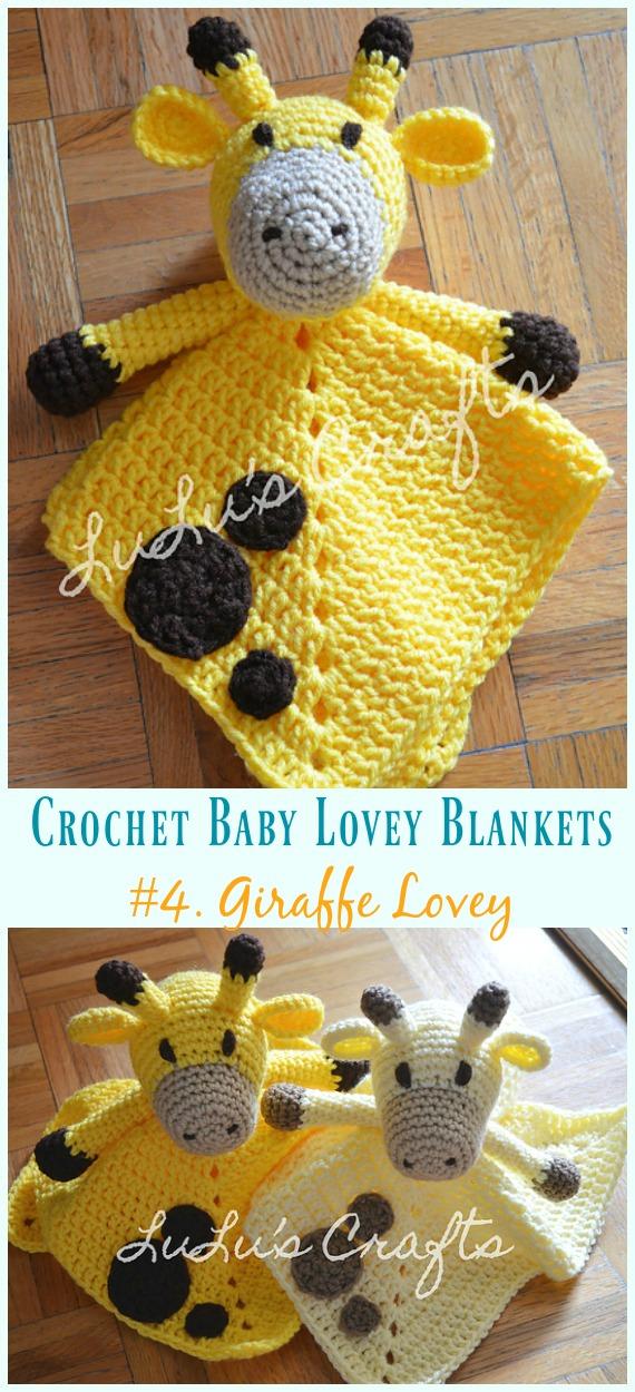 Giraffe Lovey Crochet Free Pattern - Baby #Lovey;  #Cobertor;  Consolador de segurança grátis #Crochet;  Padrões