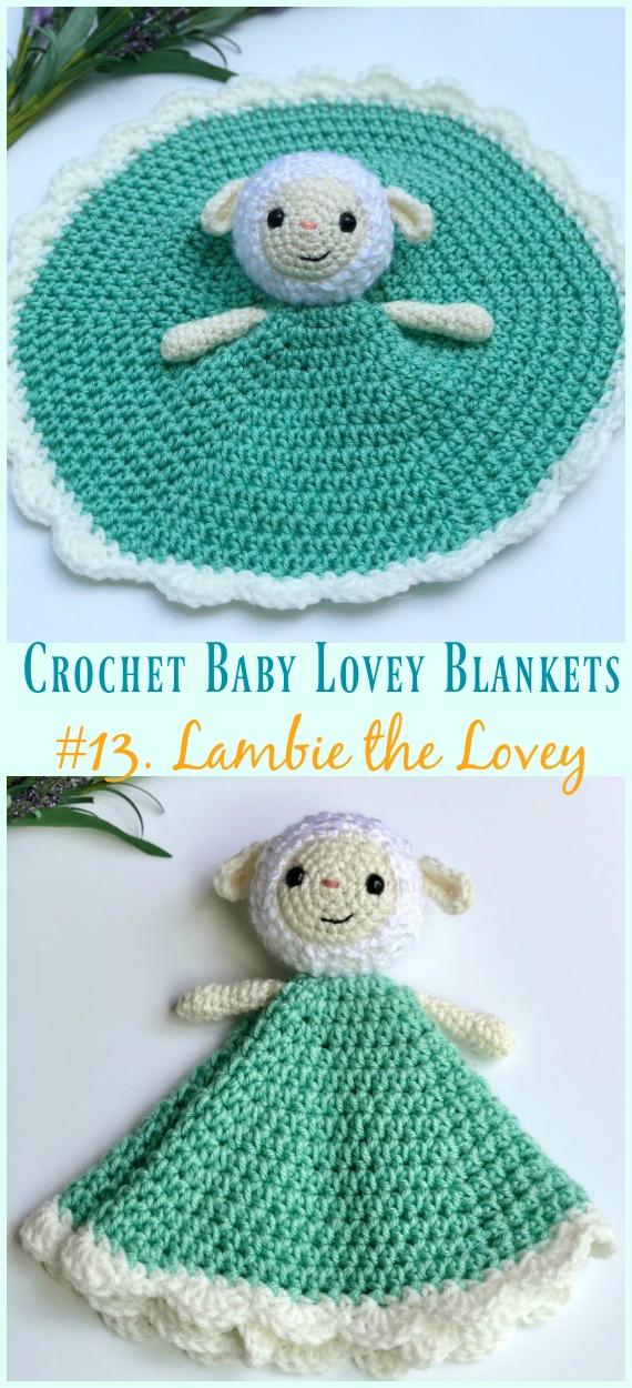 Baby Lovey Blanket Free Crochet Patterns