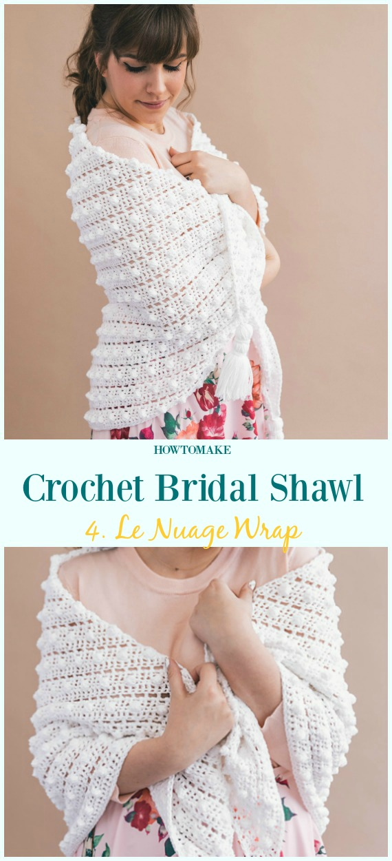 Le Nuage Wrap Free Crochet Pattern-Crochet Bridal Shawl Patterns
