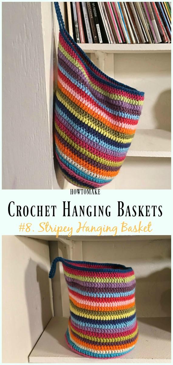 Hanging Basket Free Crochet Patterns