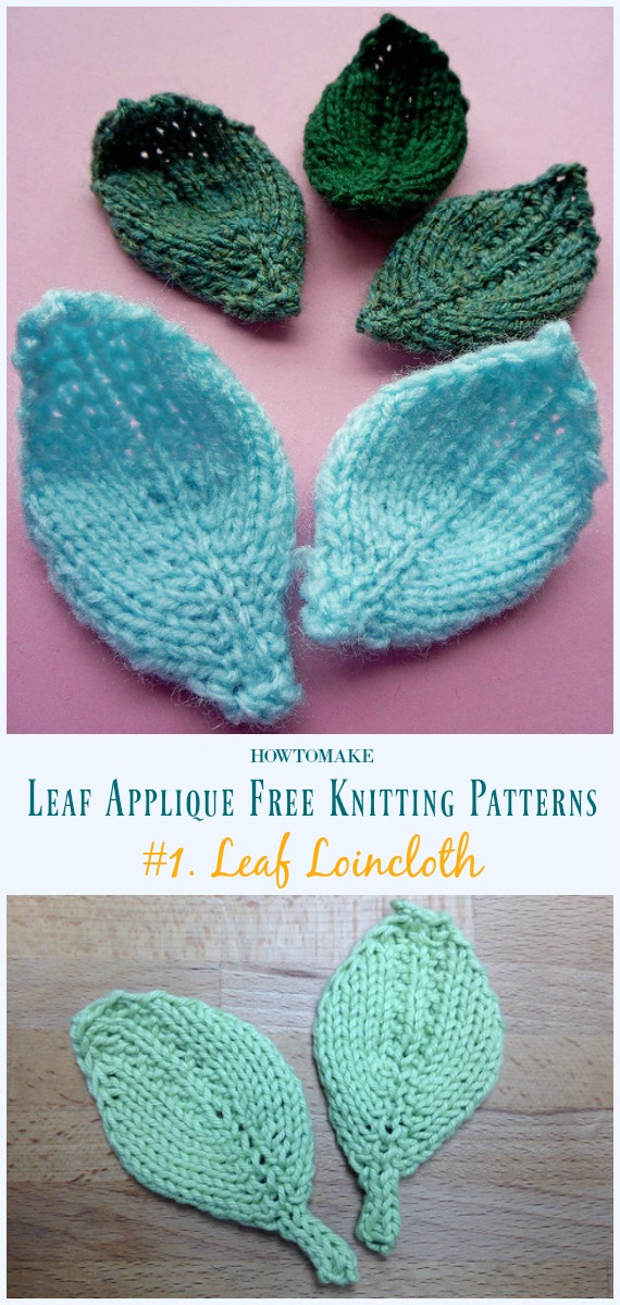 Leaf Applique Free Knitting Patterns