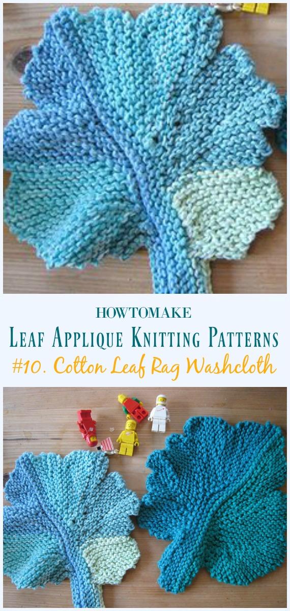 Leaf Applique Free Knitting Patterns