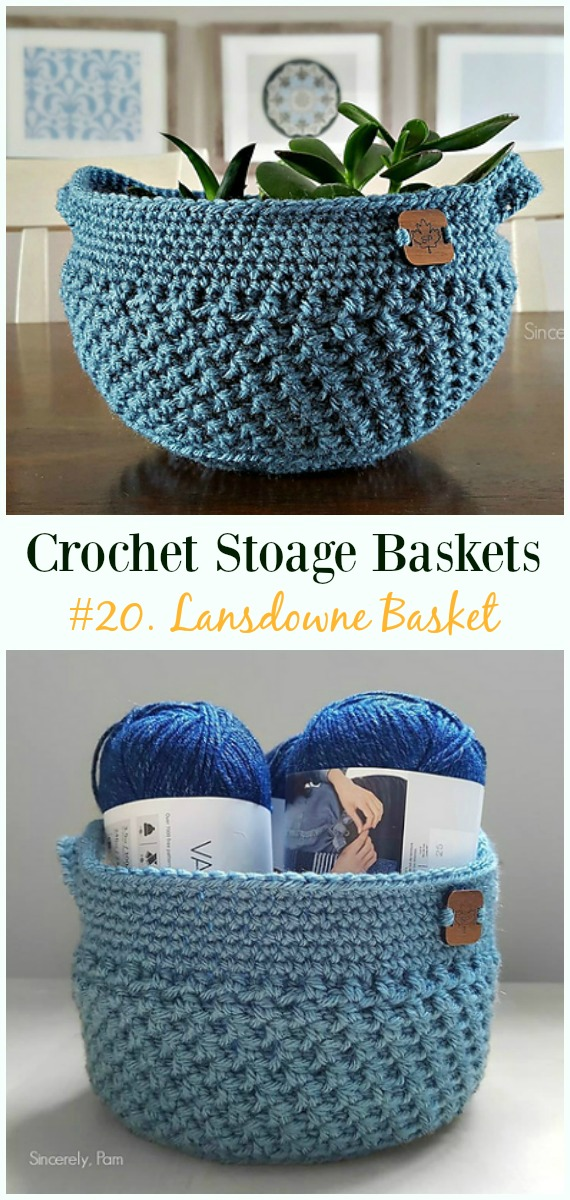 Storage Basket Free Crochet Patterns