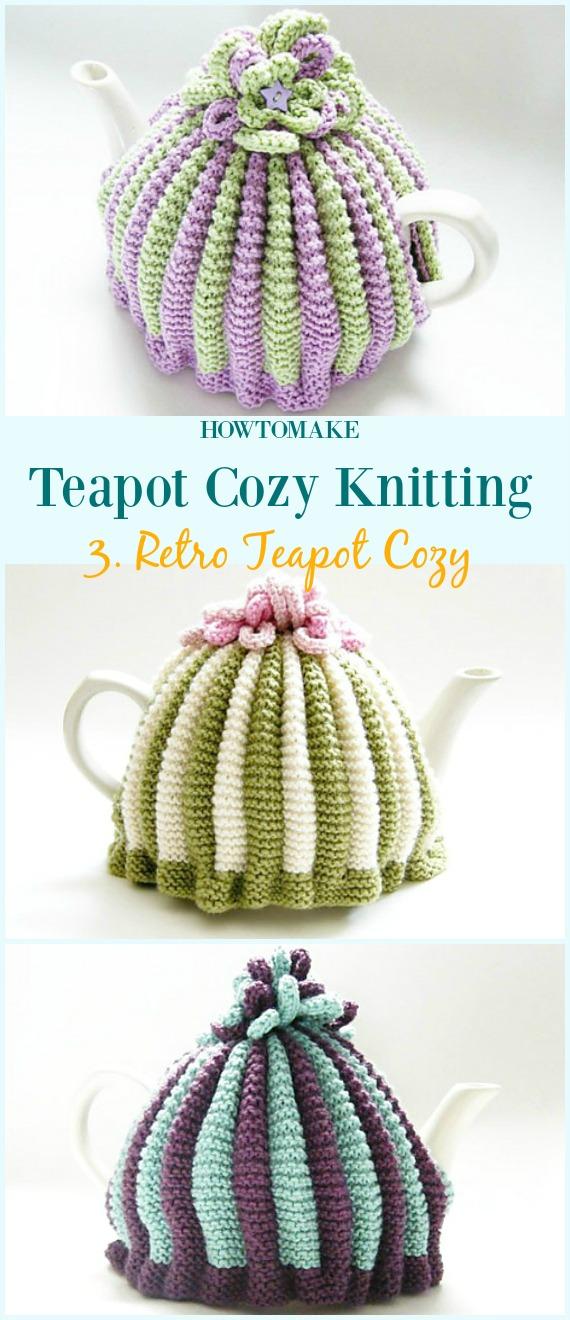Retro-Teekanne gemütliches kostenloses Strickmuster - #Teekanne;  Gemütliches kostenloses #Stricken;  Muster