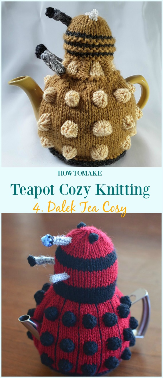 Dalek Tea Cosy Free Knitting Pattern – #Teekanne;  Gemütliches kostenloses #Stricken;  Muster