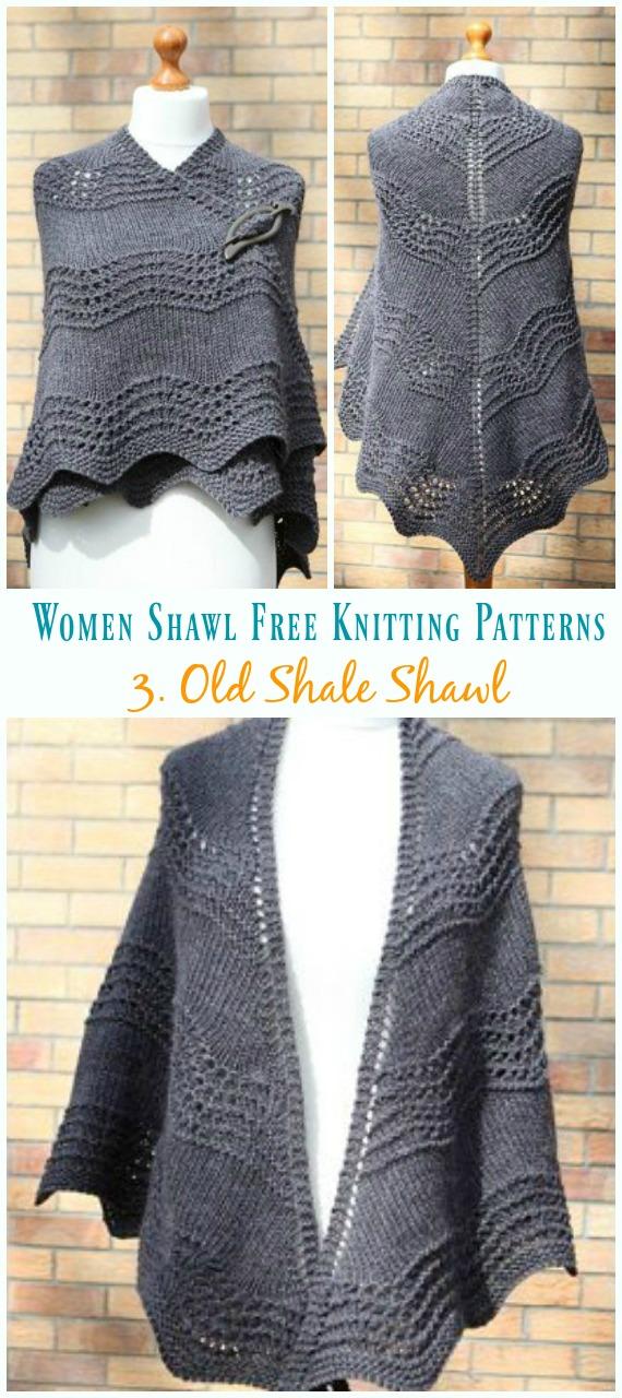 Velho Xale Xale Tricô Padrão Grátis - Mulheres #Shawl;  #Knitting grátis;  Padrões