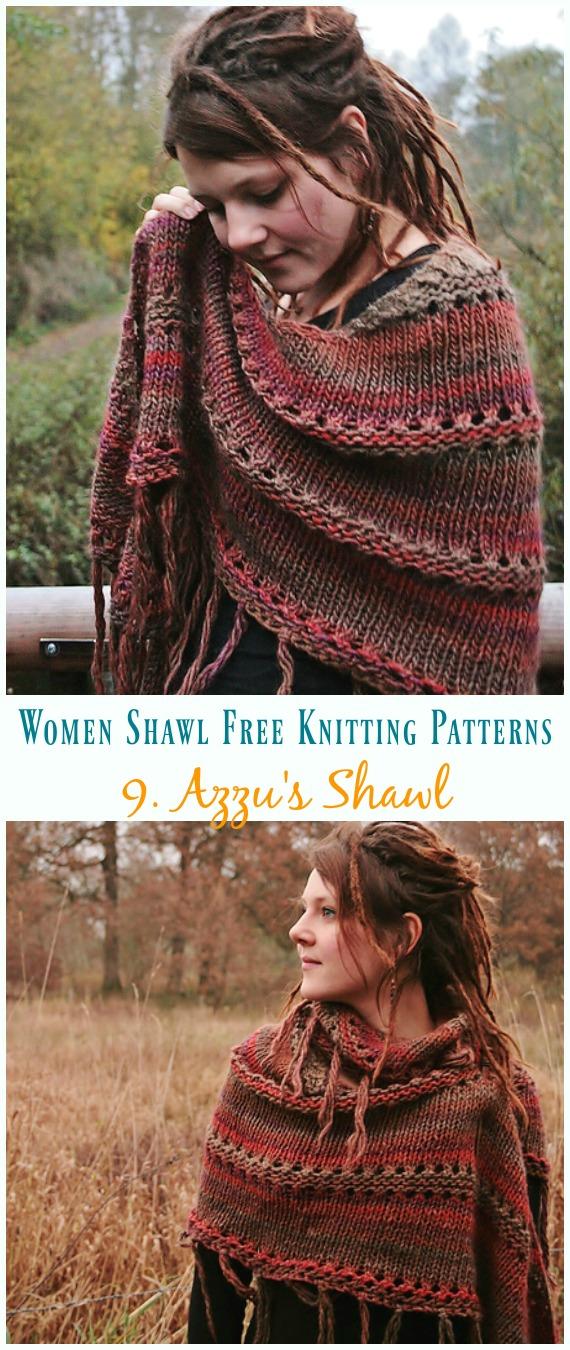 Azzus Schal stricken kostenloses Muster - Frauen #Schal;  Kostenlose #Stricken;  Muster