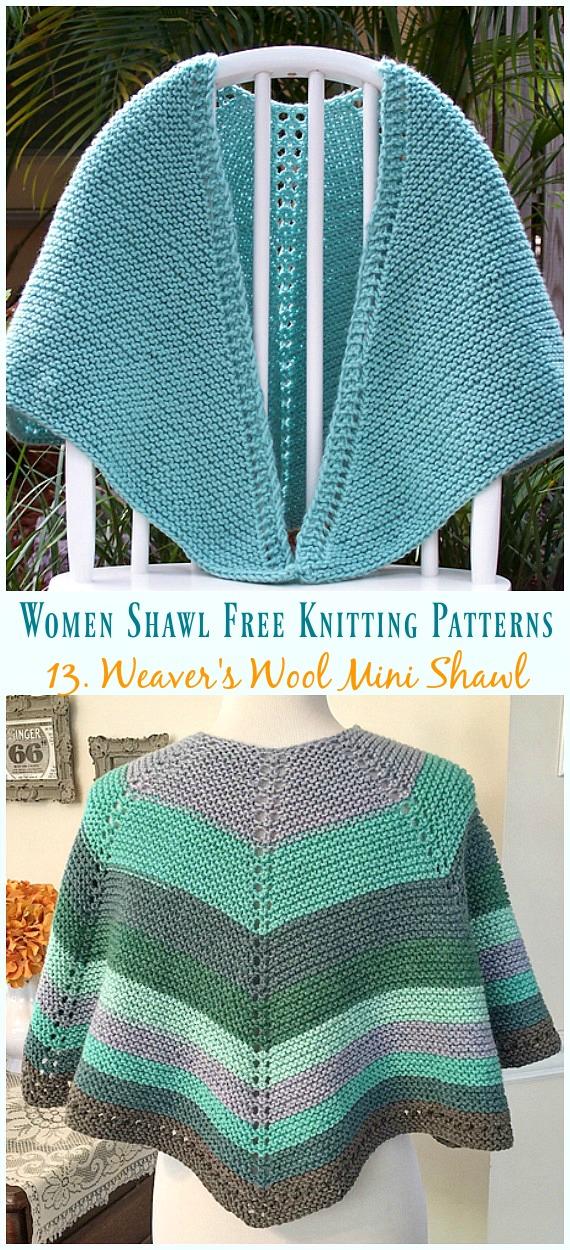 Fall & Winter Women Shawl Free Knitting Patterns