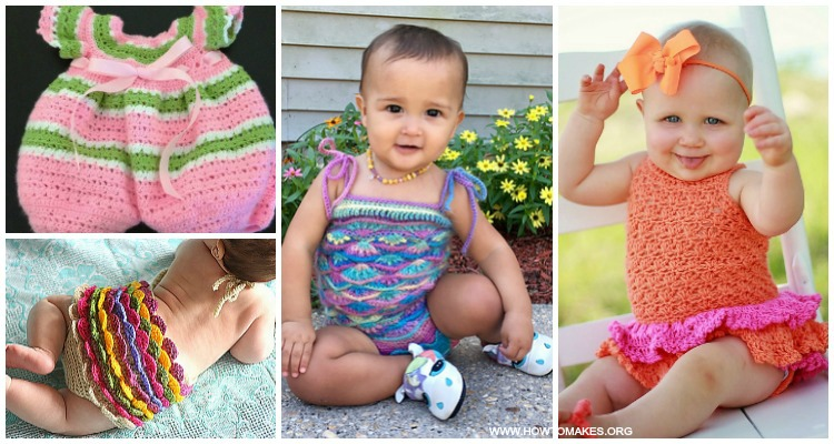 Summer Baby Romper Crochet Patterns Baby Onesie Outfit