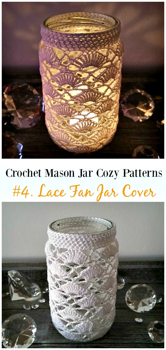 Crochet Mason Jar Cozy Free Patterns