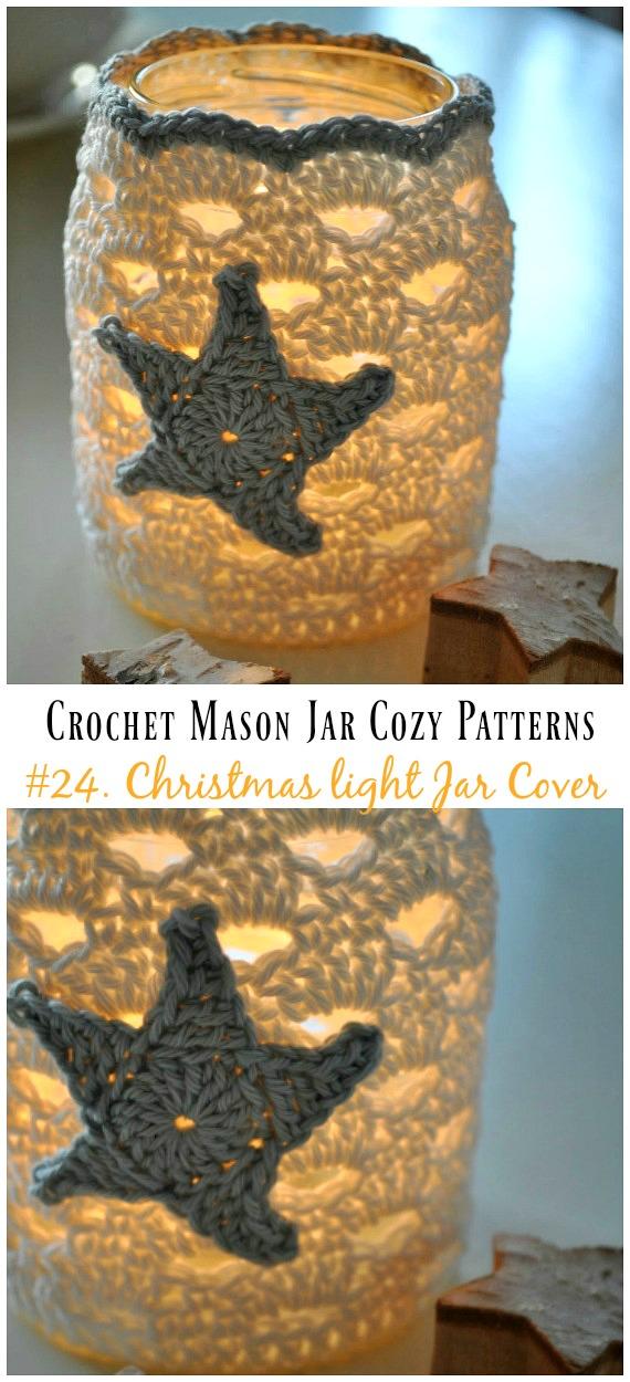 Crochet Mason Jar Cozy Free Patterns