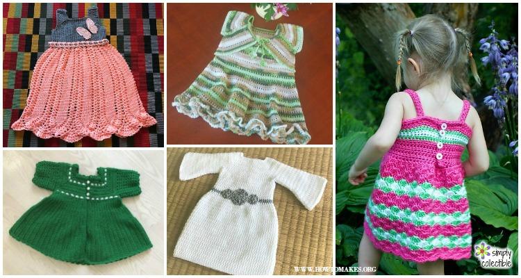 Summer Girl Dress Free Crochet Patterns