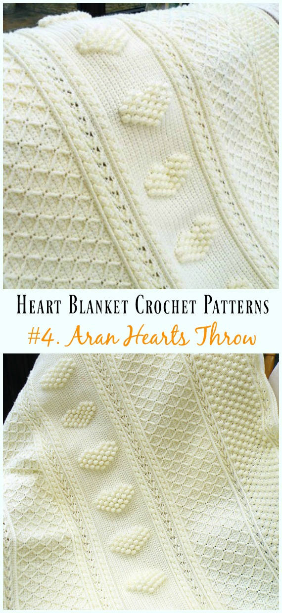 HowtoMakes Crochet Heart Baby Blanket Free Patterns 04a