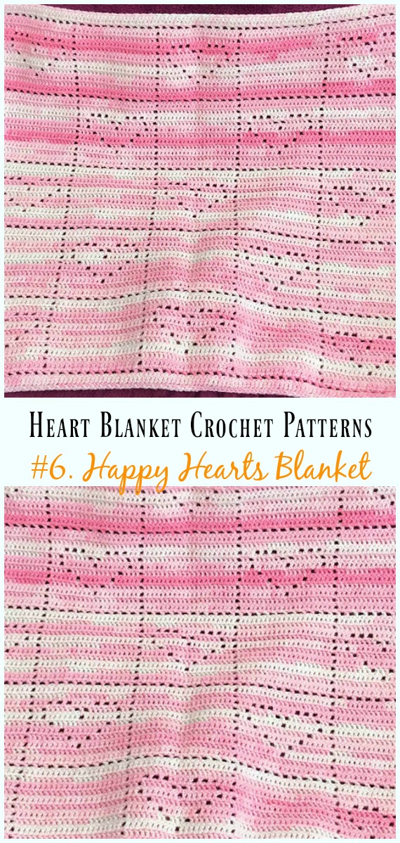 Heart Blanket Crochet Patterns Free and Paid
