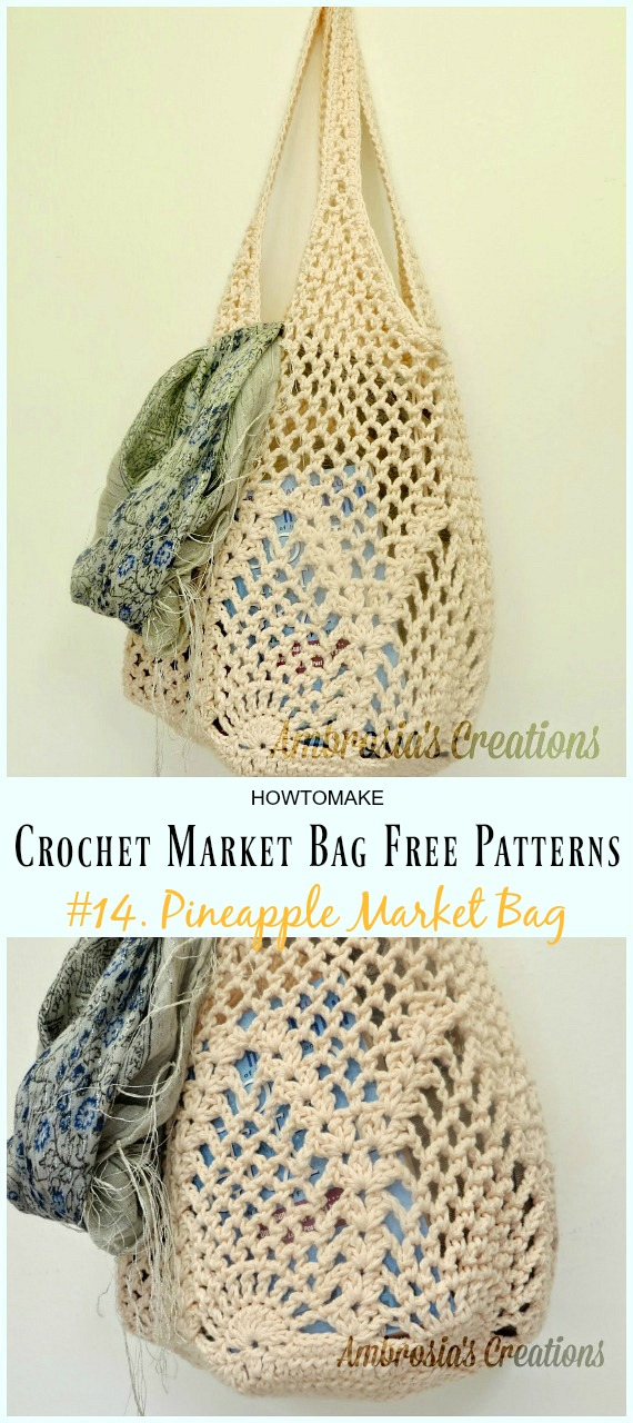 Crochet Market Bag Free Patterns