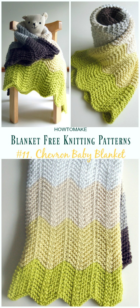 Easy Blanket Free Knitting Patterns To Level Up Your ...