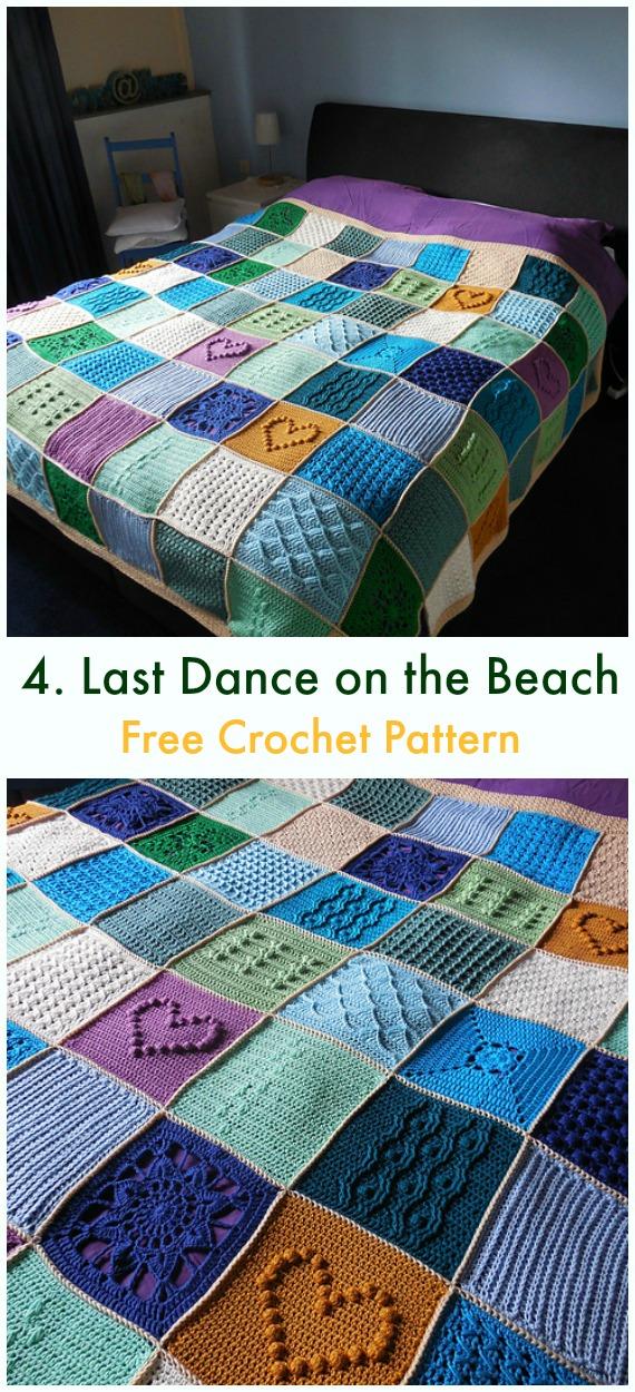 Last Dance on the Beach Popcorn-Decke Kostenlose Häkelanleitung – Bobble & Popcorn #Decke;  Kostenlose #Häkeln;  Muster