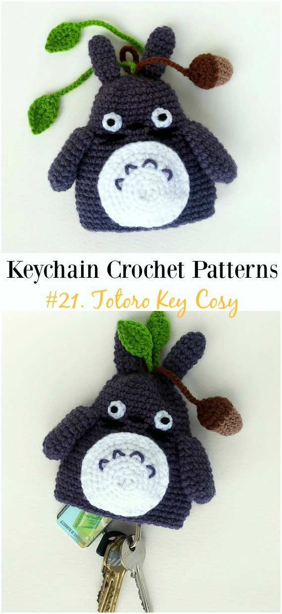 How to Make Amigurumi for Beginner - Super Cute Totoro Keychain ... | 1240x570