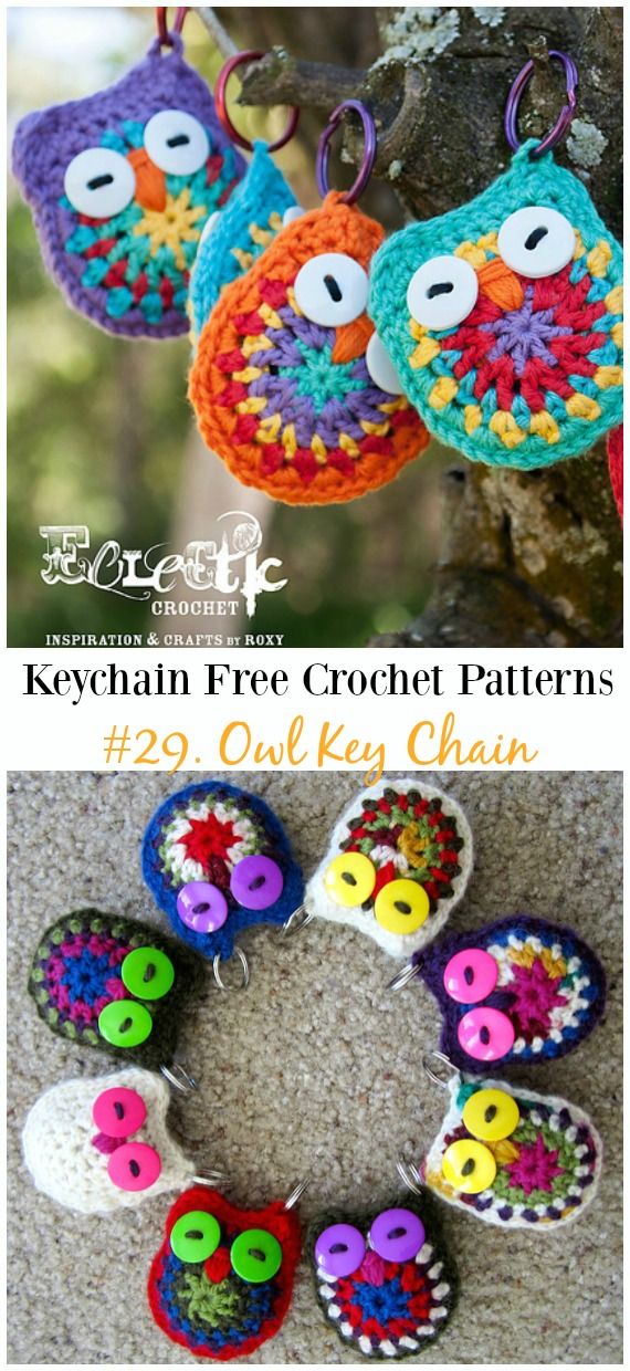 Crochet Owl Keychain Pattern and Tutorial - Darice | 1240x570