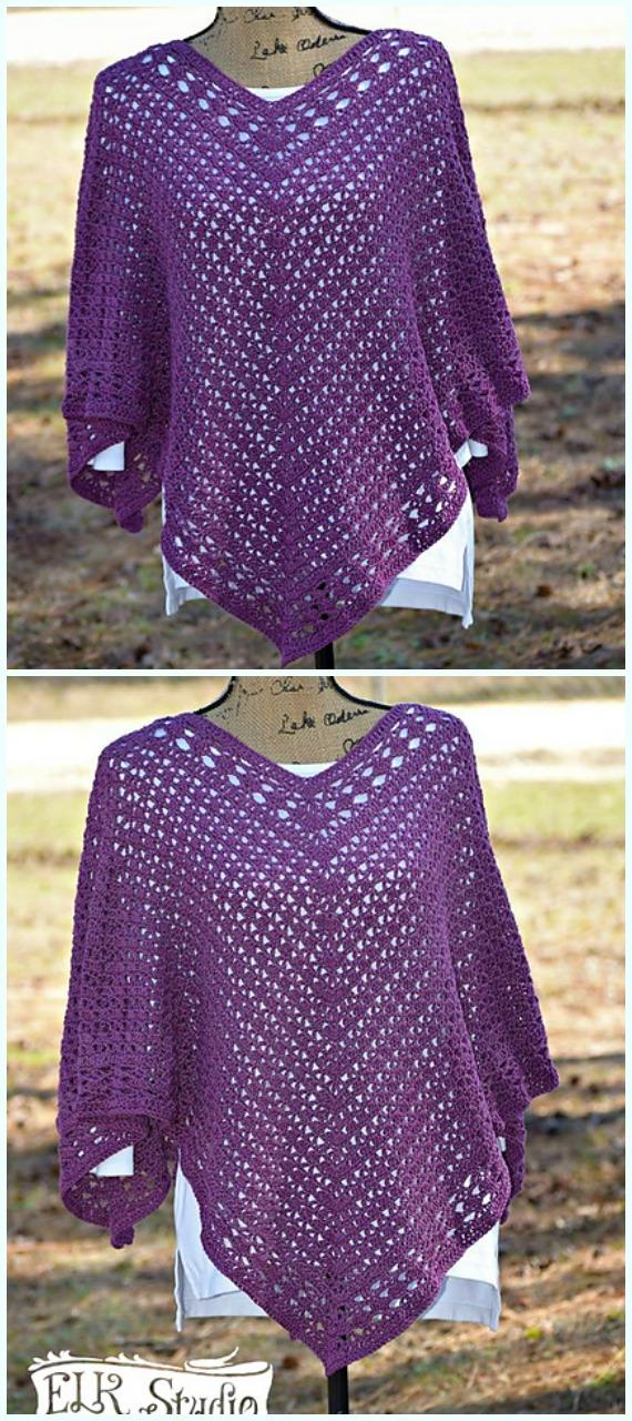 Fall Amp Winter Women Poncho Free Crochet Patterns Amp Paid